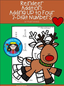 A+ Reindeer Addition: Adding Up To 4...2-Digit Numbers