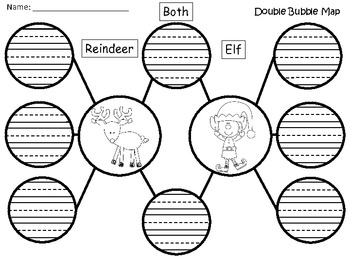 A+ Reindeer And Elf:  Double Bubble Maps