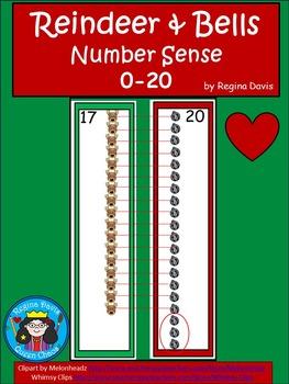 A+ Reindeer & Bells...Number Sense 0-20