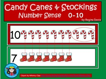 A+ Candy Canes & Stockings...Number Sense 0-10