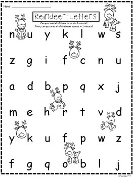 A+ Reindeer: CVC Words And Letter Reading Practice