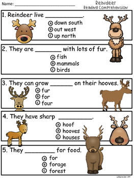A+ Reindeer Comprehension:Differentiated Instruction For Guided Reading