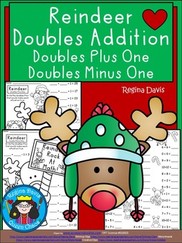 A+ Reindeer Doubles Addition: Doubles Plus One, Doubles Minus 1