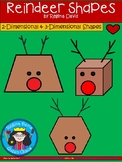 A+ Reindeer Shapes... 2-Dimensional and 3-Dimensional Shapes