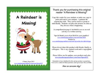 A Reindeer is Missing!  An original reader