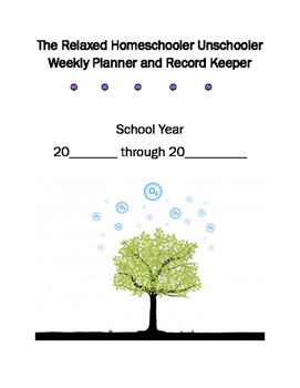 A Relaxed Homeschool Planner
