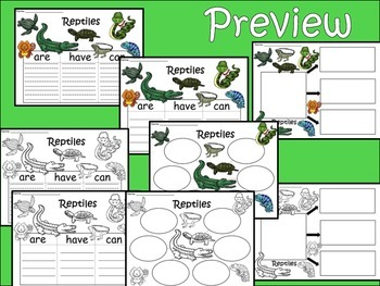 A+ Reptiles... Three Graphic Organizers