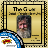 The Giver Novel Study: vocabulary, comprehension, writing,