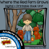 Where the Red Fern Grows Novel Study: Digital + Printable
