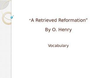 A Retrieved Reformation- Vocabulary