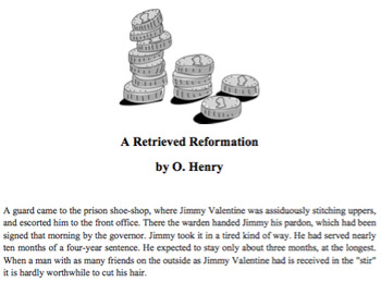 A Retrieved Reformation by O. Henry Short Story Lesson and Activity Pack
