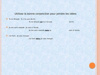 A Review on Conjunctions and Segue into French Conjunctions