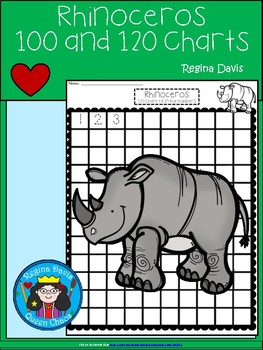 A+ Rhinoceros: Numbers 100 and 120 Chart