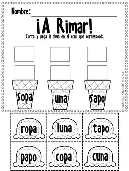A Rimar-Rhyming Activities in Spanish