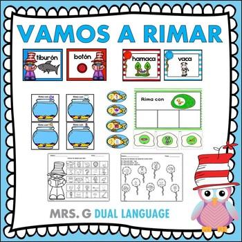 A Rimar: Spanish Rhyming Activities
