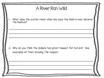 A River Ran Wild ~ 48 pgs of Common Core Activities