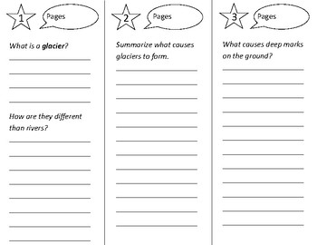 A River of Ice Trifold - Open Court 2nd Grade Unit 2 Lesson 2