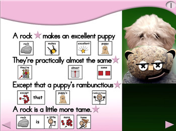 A Rock Makes an Excellent Puppy - Animated Step-by-Step Poem - SymbolStix