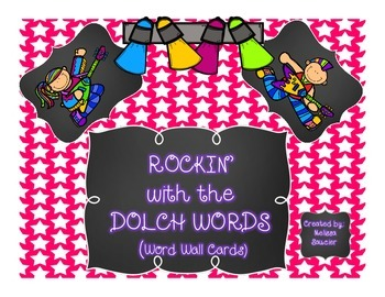 A Rockin' Set of Dolch Word Wall Cards {All sets included}
