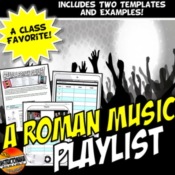 A Ancient Roman Playlist Fun Activity!