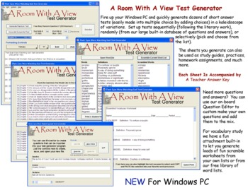 A Room With A View Test Generator for Windows PC
