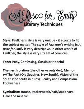 A Rose for Emily by William Faulkner Lesson Guide