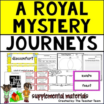 A Royal Mystery Journeys 5th Grade Unit 1 Lesson 2 Activities and Printables