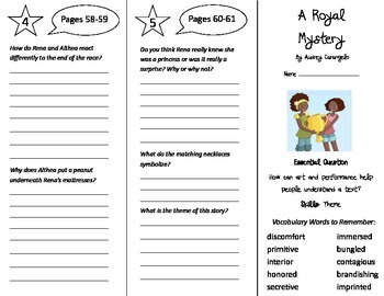 A Royal Mystery Trifold - Journeys 5th Grade Unit 1 Week 2 (2014, 2017)