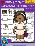 A+ Ruby Bridges Sentences: Fill In The Blank