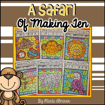 A SAFARI OF MAKING 10 – Color by Code and Interactive Slide Show