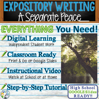 A Separate Peace by John Knowles - Text Dependent Analysis Expository Writing