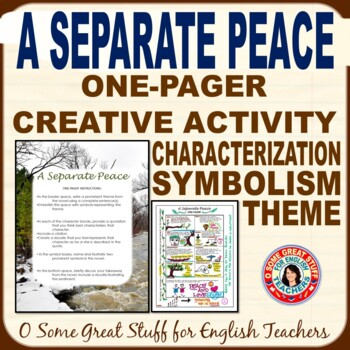A SEPARATE PEACE Theme, Characterization, Symbolism, Reflection Activity
