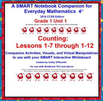 A SMARTboard Companion for Everyday Math 4 2014 CCSS Ed Gr 1 Unit 1 Part 2