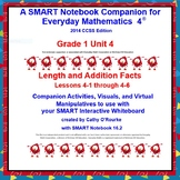A SMARTboard Companion for Everyday Math 4 2014 CCSS Ed Gr 1 Unit 4 Part 1