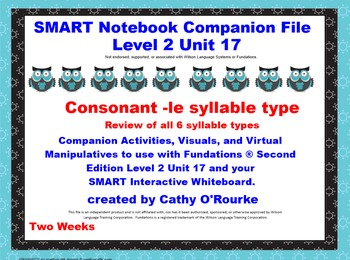 A SMARTboard  Second Edition Level 2 Unit 17 Companion File
