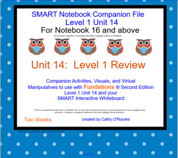 A SMARTboard Second Ed. Level 1 Unit 14 Companion File For Notebook 16 and Above