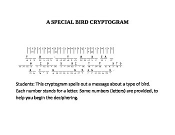 A SPECIAL BIRD CRYPTOGRAM