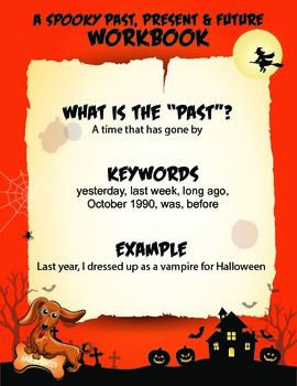 NO PREP LEARNING.  A SPOOKY PAST, PRESENT & FUTURE HALLOWE