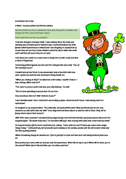 A STRANGE MEETING- St Patrick's Day Visualisation and writing
