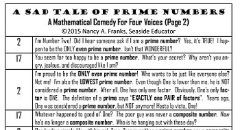 A Sad Tale Of Prime Numbers: Mathematical Play
