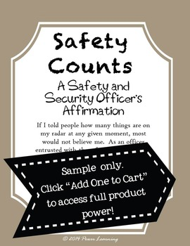 A Safety and Security Officer's Affirmation (Professional Development)