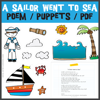 A Sailor Went to Sea Nursery Rhyme PUPPETS