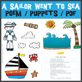 A Sailor Went to Sea Nursery Rhyme POEM and PUPPETS