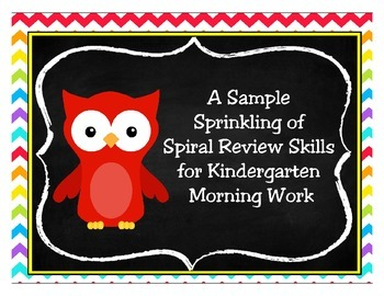 A Sample Sprinkling of Spiral Review Morning Work