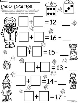 A+ Santa Dice Roll: Balancing Out Equations