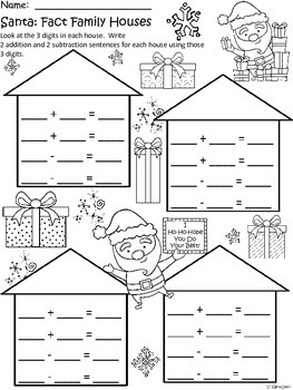 A+ Santa: Fact Family Houses