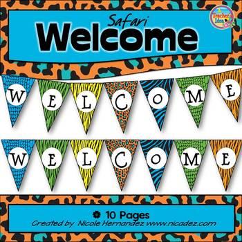 Welcome Banner - {Animal Safari Themed}