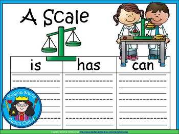 A+ Scale: Science Tools...Three Graphic Organizers