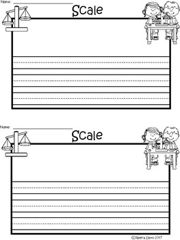 A+ Scale: Science Tools ... Writing Paper