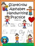 A+ Scarecrow: Alphabet Handwriting Practice